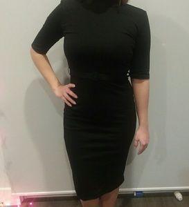ZARA Black Dress, Size Small,  with Belt